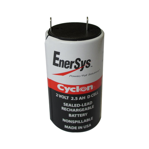Enersys Cyclon 0810-0004 Battery -2 Volt 2.5 Ah D Cell