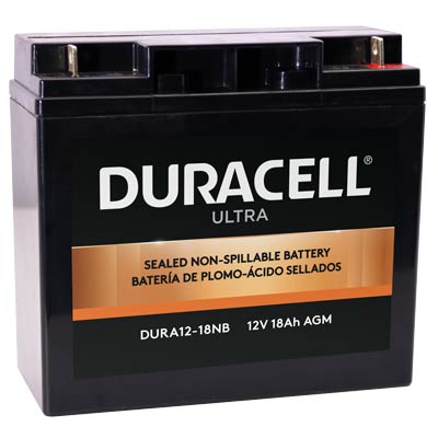 Duracell DURA12-18NB Battery 12V 18Ah AGM Nut & Bolt - SLAA12-18NB