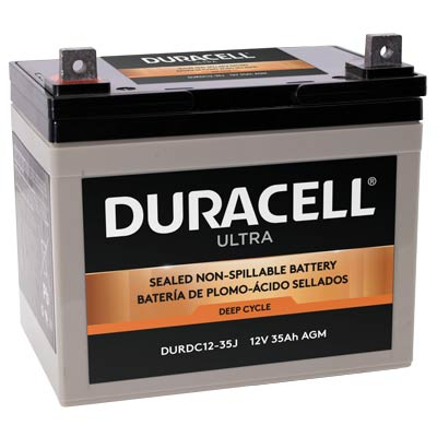 Duracell DURDC12-35J Battery 12V 35Ah AGM Nut & Bolt - WKDC12-35J