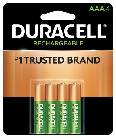 Duracell Precharged AAA Rechargeable Batteries - DX2400B4N - 4 Pack