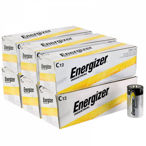 Energizer Industrial C Cell Batteries - EN93 Wholesale Case of 72