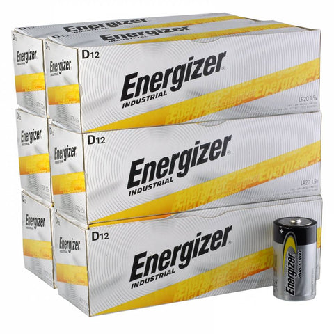 Energizer Industrial D Cell Batteries - EN95 Wholesale Case of 72