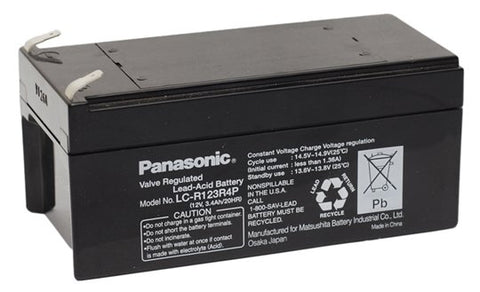 Panasonic LC-R123R4P Battery - 12 Volt 3.4 Ah