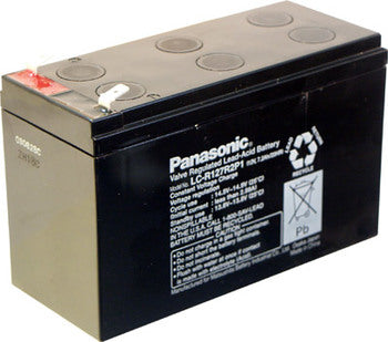 "Panasonic LC-R127R2P1 Battery - 12 Volt 7.2 Ah (.250"" Terminals)"