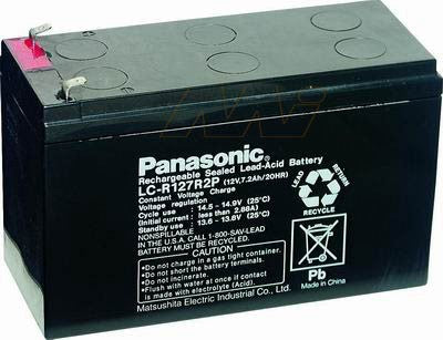 "Panasonic LC-R127R2P Battery - 12 Volt 7.2 Ah (.187"" Terminals)"