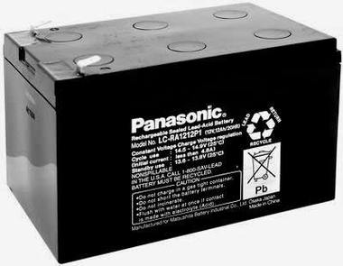 "Panasonic LC-RA1212P1 Battery - 12 Volt 12 Ah (.250"" Terminals)"