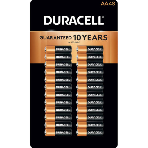 Duracell PC1500 AA Alkaline Coppertop Batteries - 48 Pack