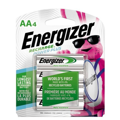 Energizer AA Recharge Batteries - NH15 HR6 Rechargeable