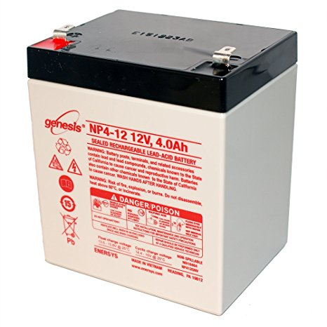 Enersys Genesis NP4-12 Battery - 12 Volts 4 Ah