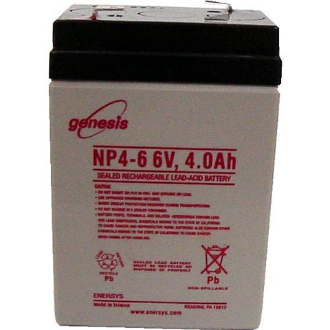 Enersys Genesis NP4-6 Battery - 6 Volt 4 Amp Hour