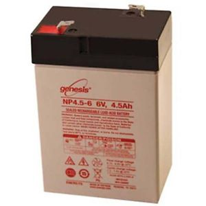 Enersys Genesis NP4.5-6 Battery - 6 Volt 4.5 Amp Hour