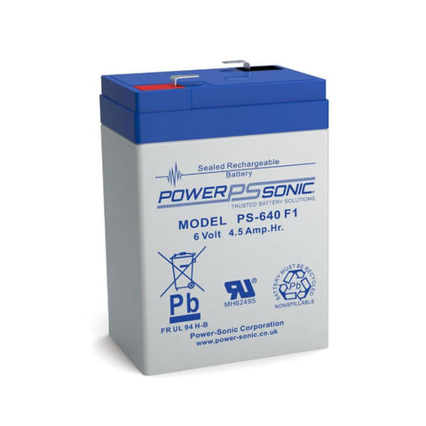 Power Sonic PS-640 F1 Battery - 6 Volt 4.5 Ah