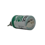 Saft LS14250-2PF Battery - 3.6V 1//2AA with 2 Pins (1 Pos - 1 Neg)