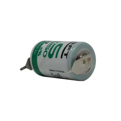 Saft LS14250-2PF Battery - 3.6V Lithium 1//2AA with 2 Pins (1 Pos - 1 Neg)
