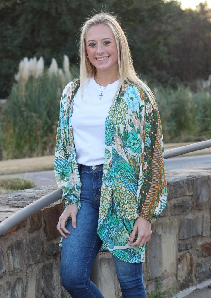 Adalyn - Green-Kimonos + Outerwear-Wholesale-Boutique-Clothing-Accessories