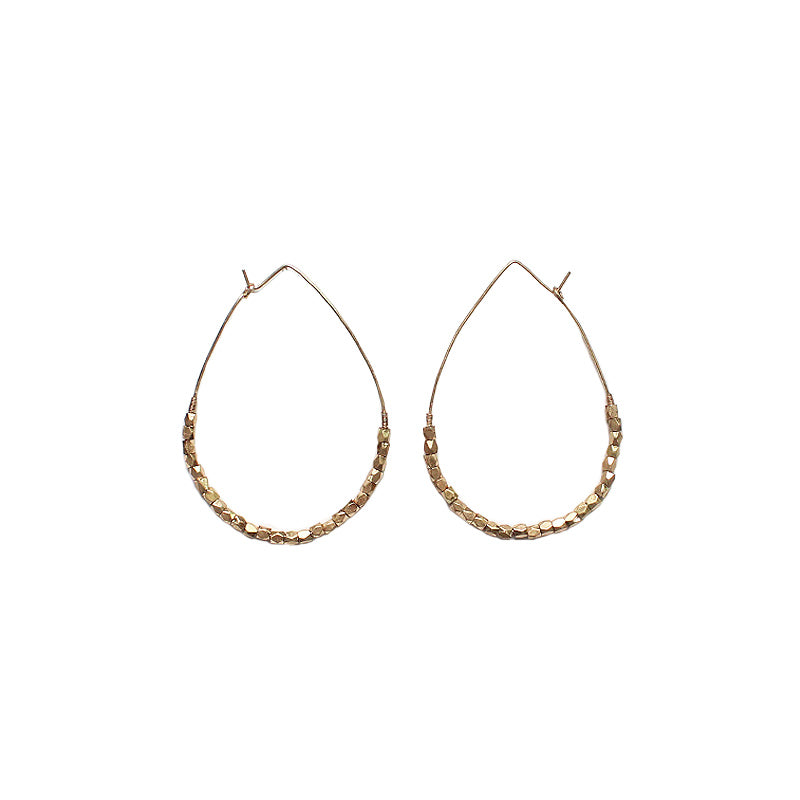 Adelle - Worn Gold-Earrings-Wholesale-Boutique-Clothing-Accessories