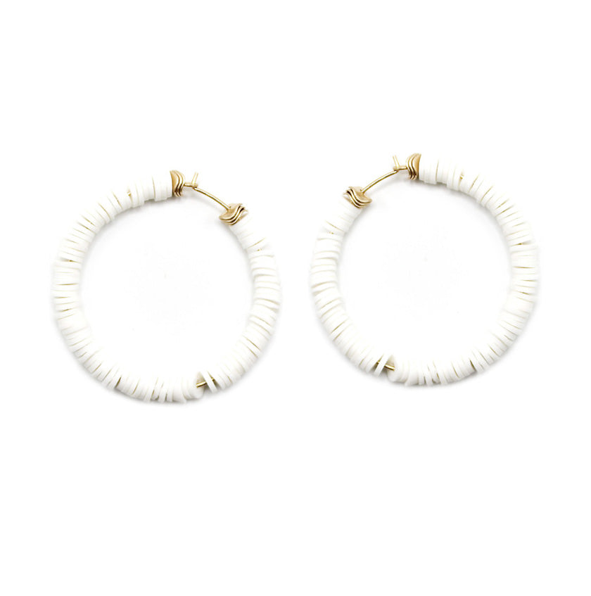 Adria - White-Earrings-Wholesale-Boutique-Clothing-Accessories