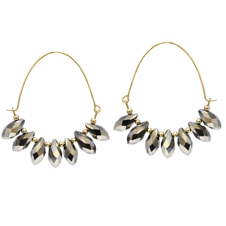 Adriana - Hematite-Earrings-Wholesale-Boutique-Clothing-Accessories