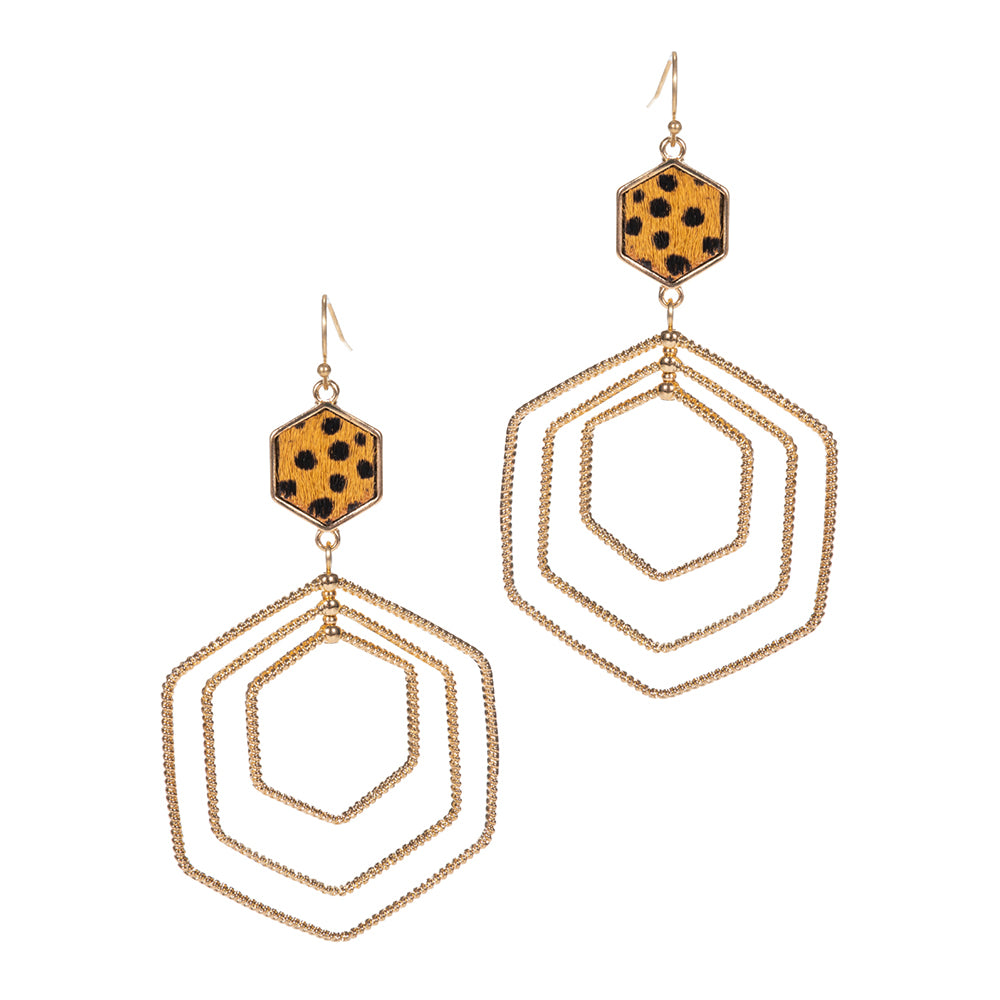 Alaina - Cheetah Tan-Earrings-Wholesale-Boutique-Clothing-Accessories