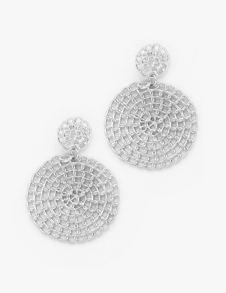 Alexa - Worn Silver-Earrings-Wholesale-Boutique-Clothing-Accessories
