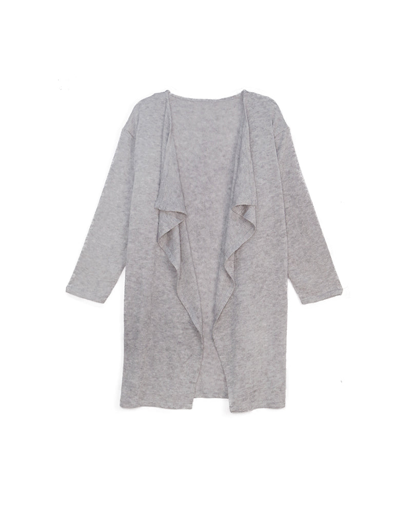 Ambrosia - Heather Gray-Kimonos + Outerwear-Wholesale-Boutique-Clothing-Accessories