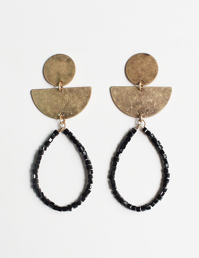 Amia - Black-Earrings-Wholesale-Boutique-Clothing-Accessories