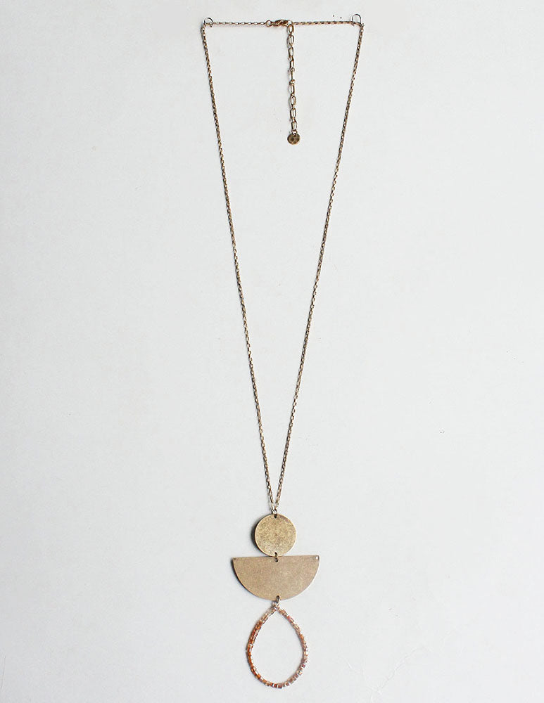 Amia Necklace - Natural Pink-Necklaces-Wholesale-Boutique-Clothing-Accessories