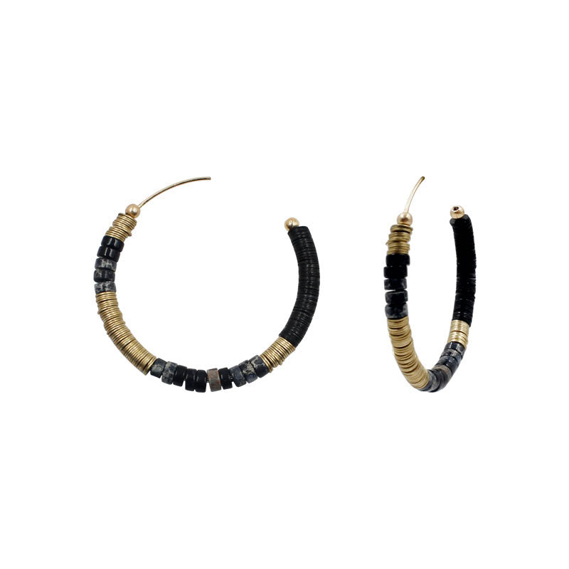 Ariana - Black-Earrings-Wholesale-Boutique-Clothing-Accessories