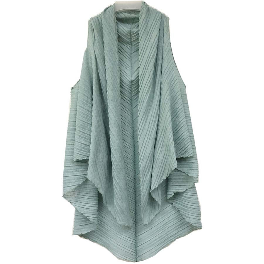 Beckett Pleated Vest - Mint-Kimonos + Outerwear-Wholesale-Boutique-Clothing-Accessories
