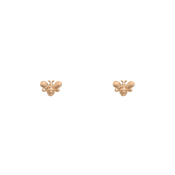 Bee Stud Earrings - Satin Gold-Earrings-Wholesale-Boutique-Clothing-Accessories