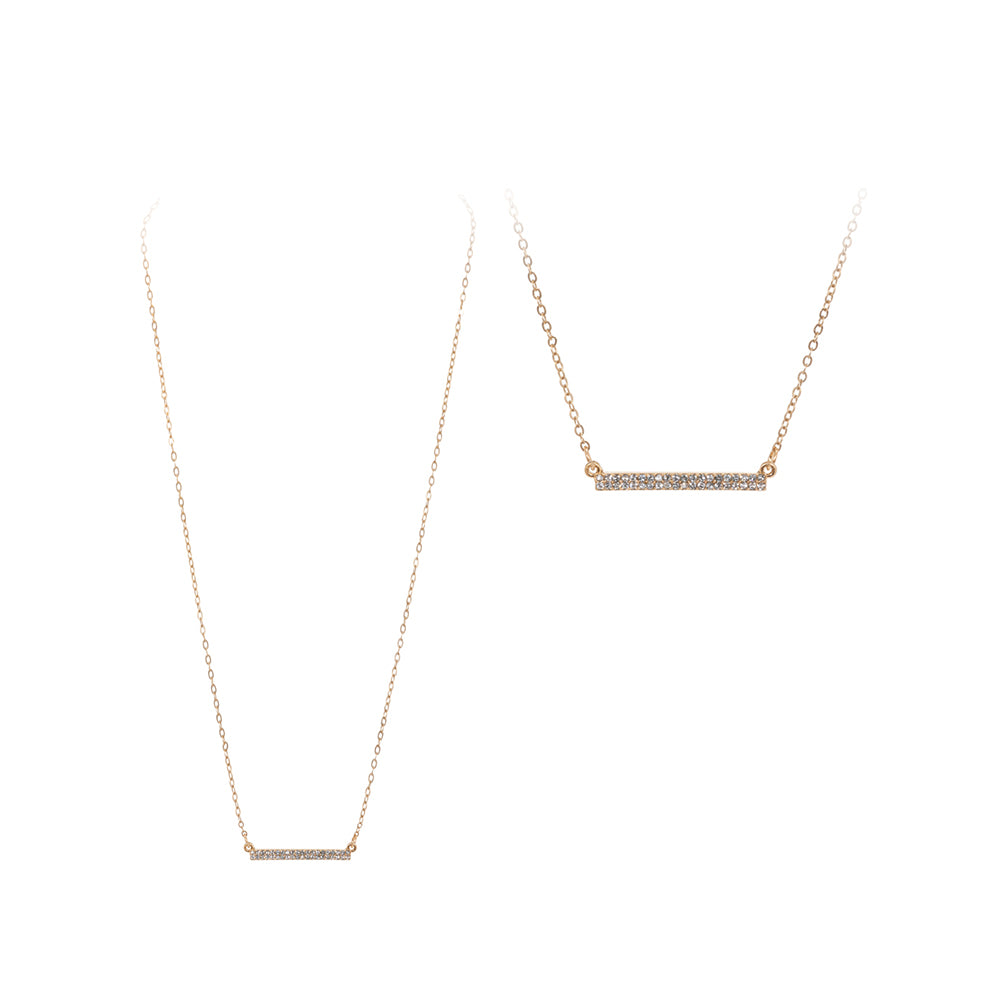 Bianca - Worn Gold Clear-Necklaces-Wholesale-Boutique-Clothing-Accessories