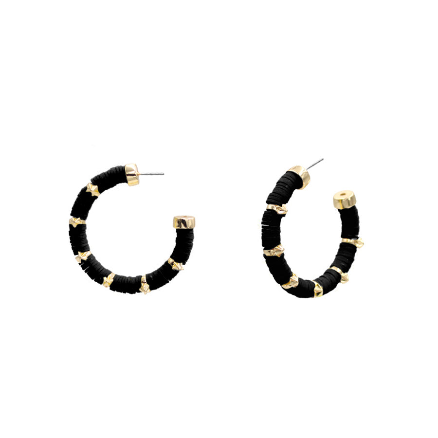 Blake - Gold Black-Earrings-Wholesale-Boutique-Clothing-Accessories