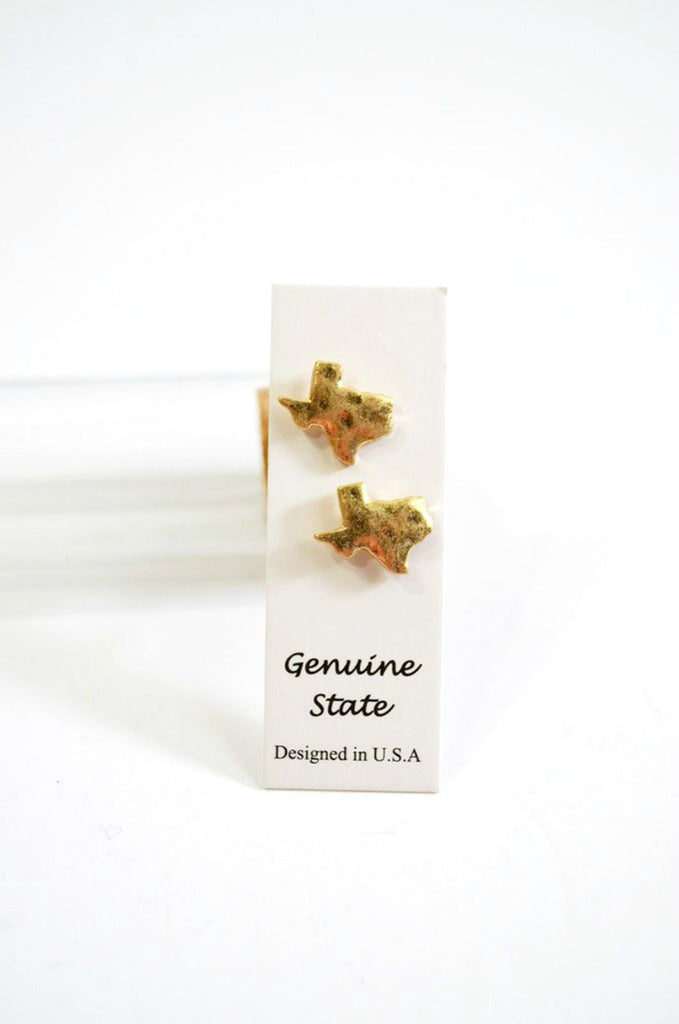 Bottled Texas Studs - Gold-Earrings-Wholesale-Boutique-Clothing-Accessories