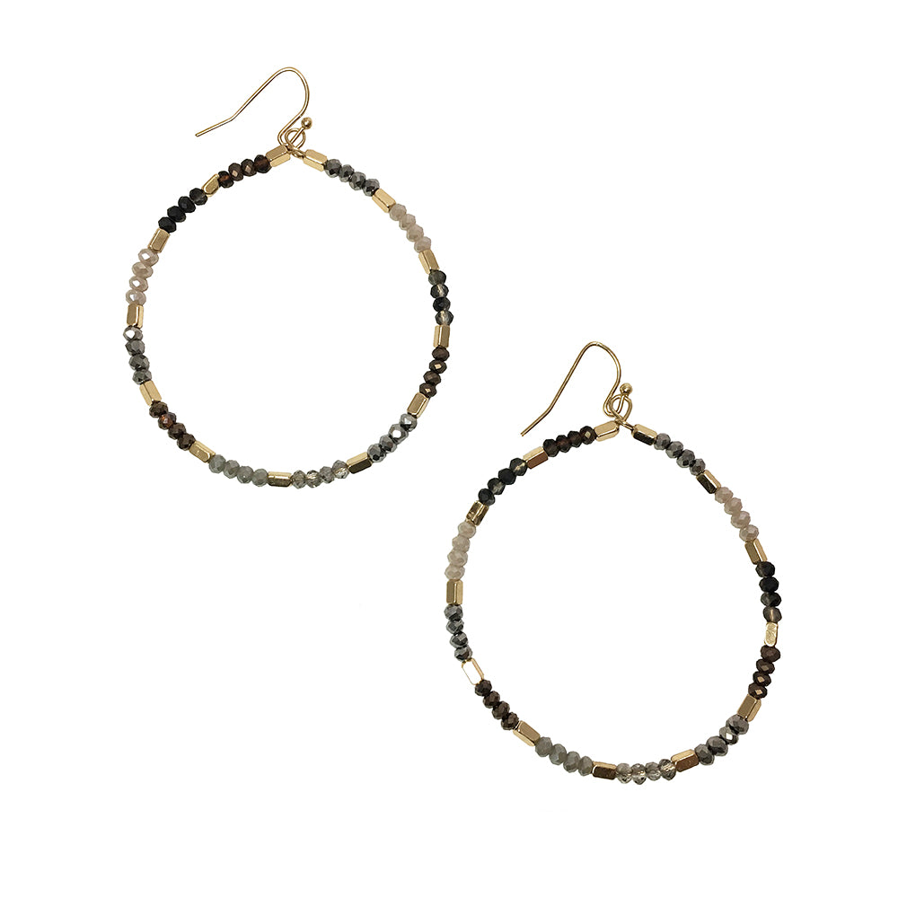 Callisto - Gray-Earrings-Wholesale-Boutique-Clothing-Accessories