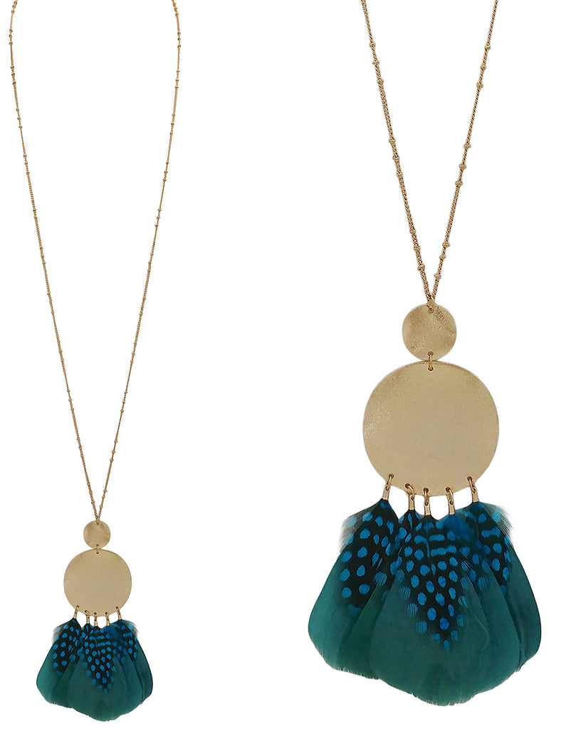Cyrene Necklace - Teal-Necklaces-Wholesale-Boutique-Clothing-Accessories