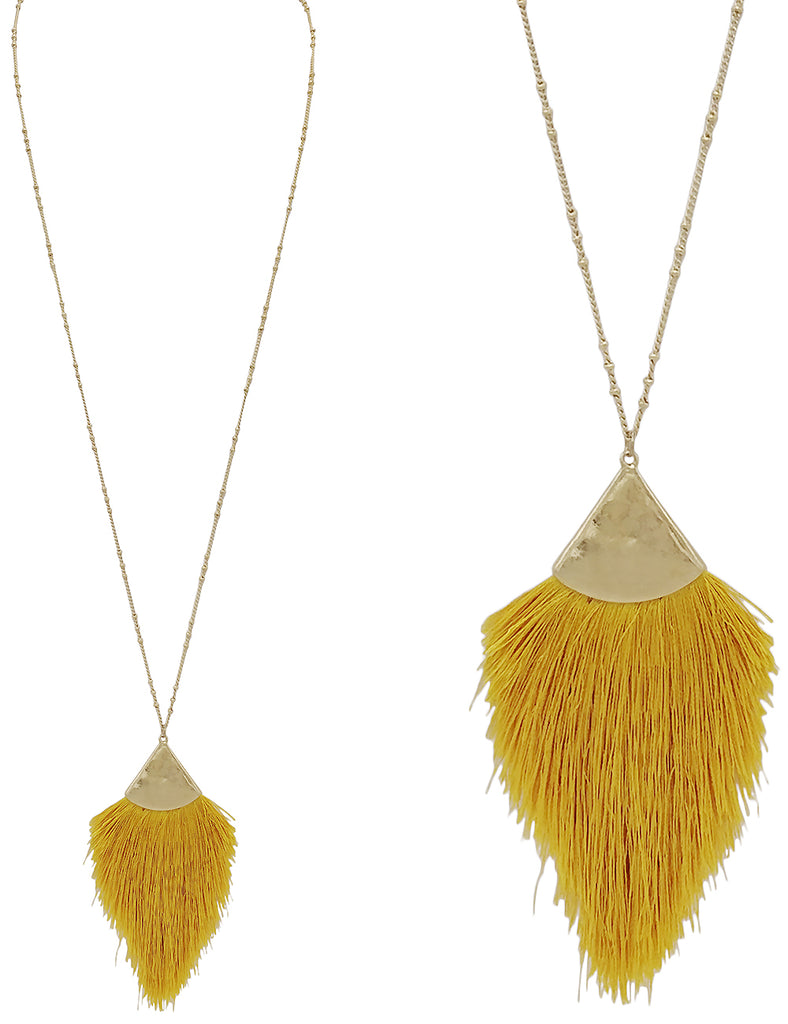 Destino Necklace - Mustard-Necklaces-Wholesale-Boutique-Clothing-Accessories