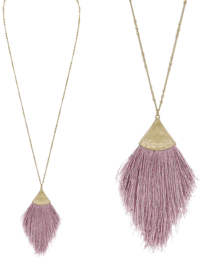 Destino Necklace - Pink Lavender-Necklaces-Wholesale-Boutique-Clothing-Accessories