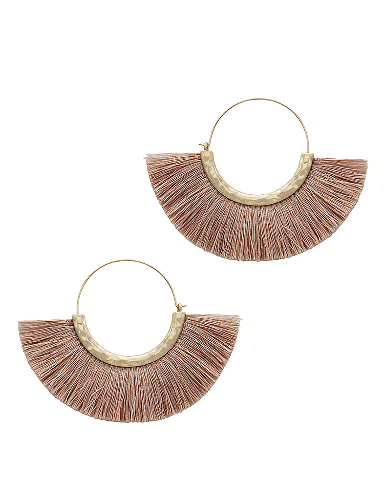 Dylan - Dark Pink-Earrings-Wholesale-Boutique-Clothing-Accessories