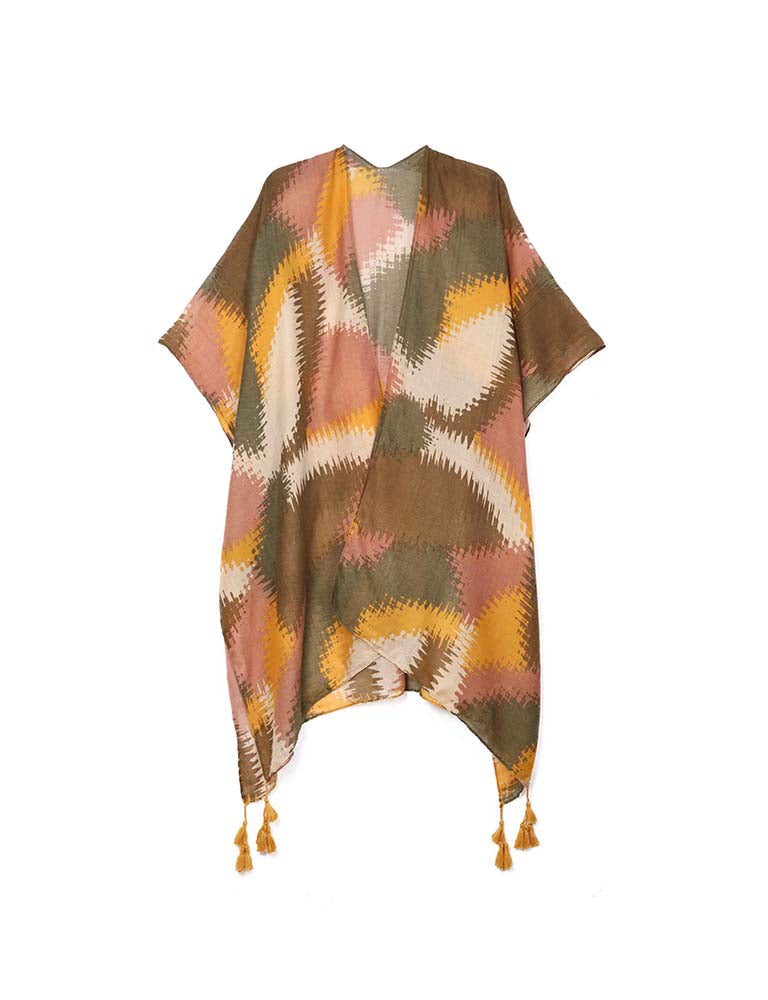 Edie - Taupe-Kimonos + Outerwear-Wholesale-Boutique-Clothing-Accessories