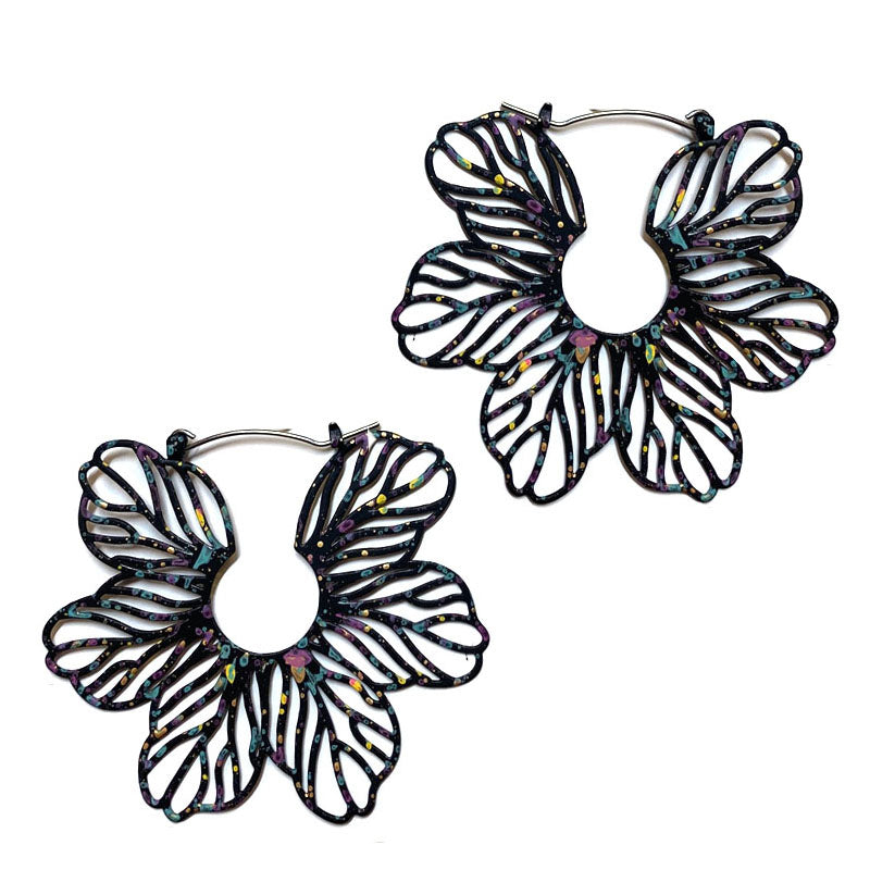 Eliana - Black-Earrings-Wholesale-Boutique-Clothing-Accessories
