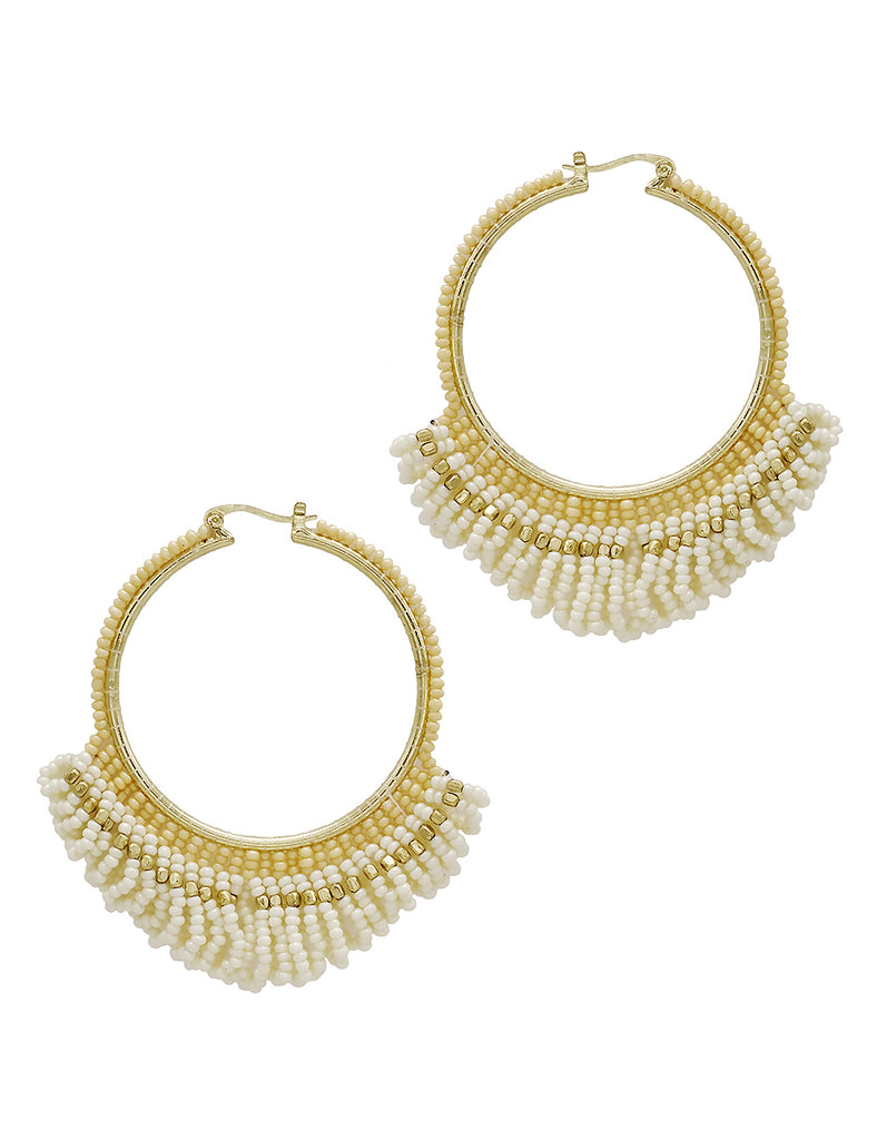 Elisa - Ivory-Earrings-Wholesale-Boutique-Clothing-Accessories