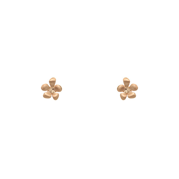 Flower Stud Earrings - Satin Gold-Earrings-Wholesale-Boutique-Clothing-Accessories