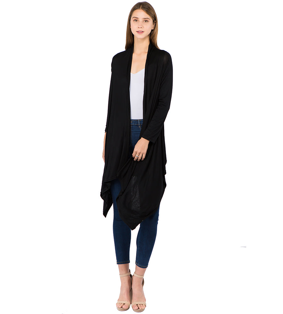 Georgie Solid Cardigan - Black