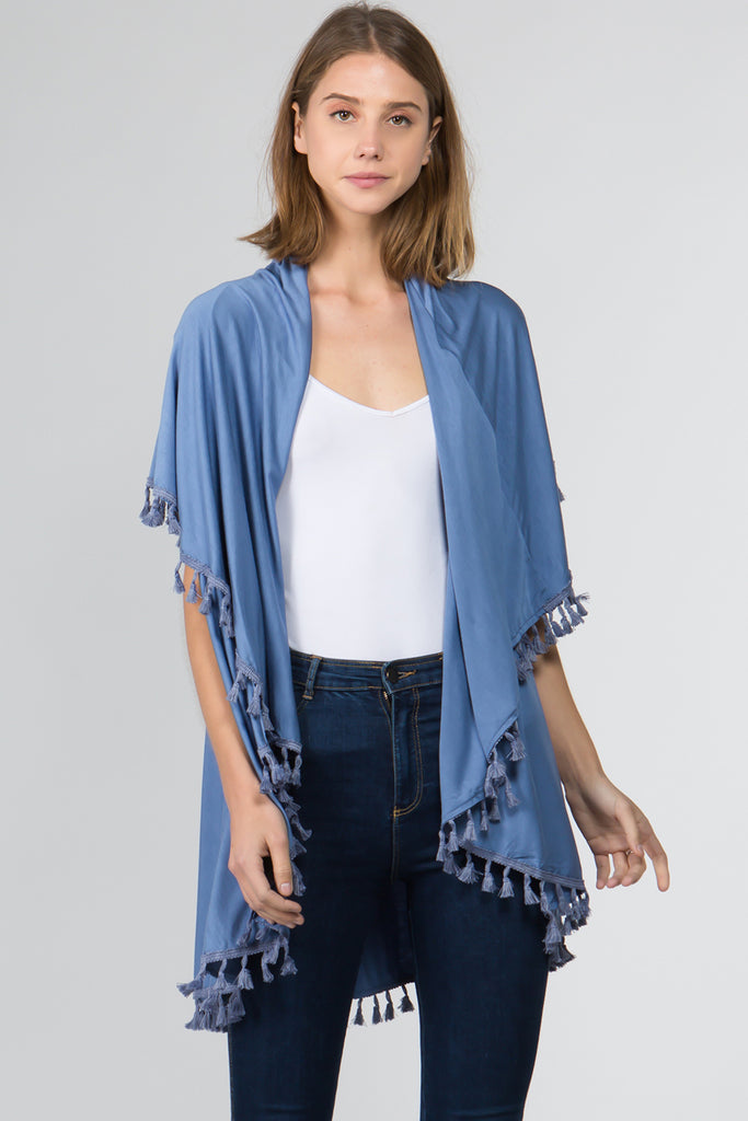 Grayson Vest - Blue-Kimonos + Outerwear-Wholesale-Boutique-Clothing-Accessories