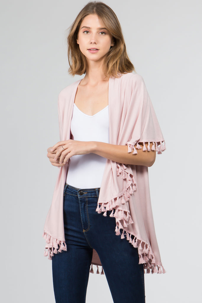 Grayson Vest - Pink-Kimonos + Outerwear-Wholesale-Boutique-Clothing-Accessories