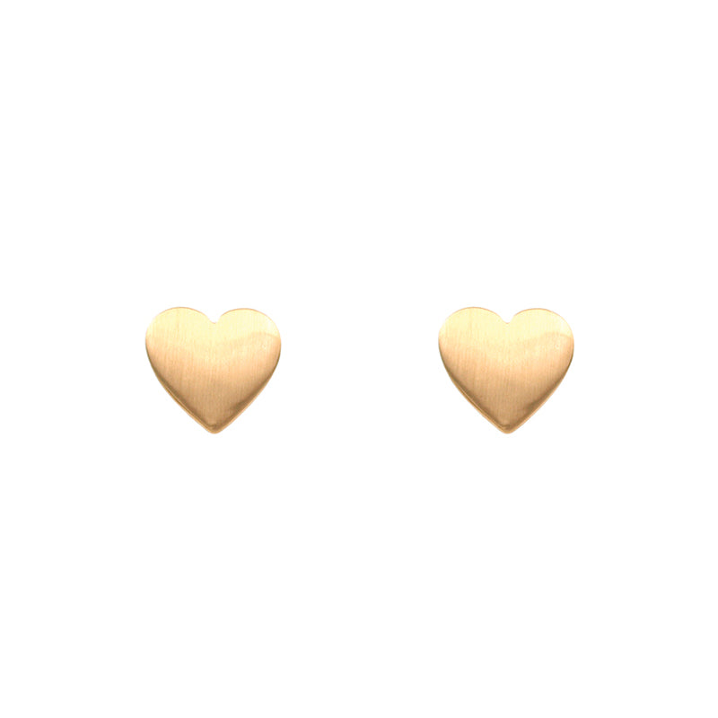 Heart Earrings - Satin Gold-Earrings-Wholesale-Boutique-Clothing-Accessories