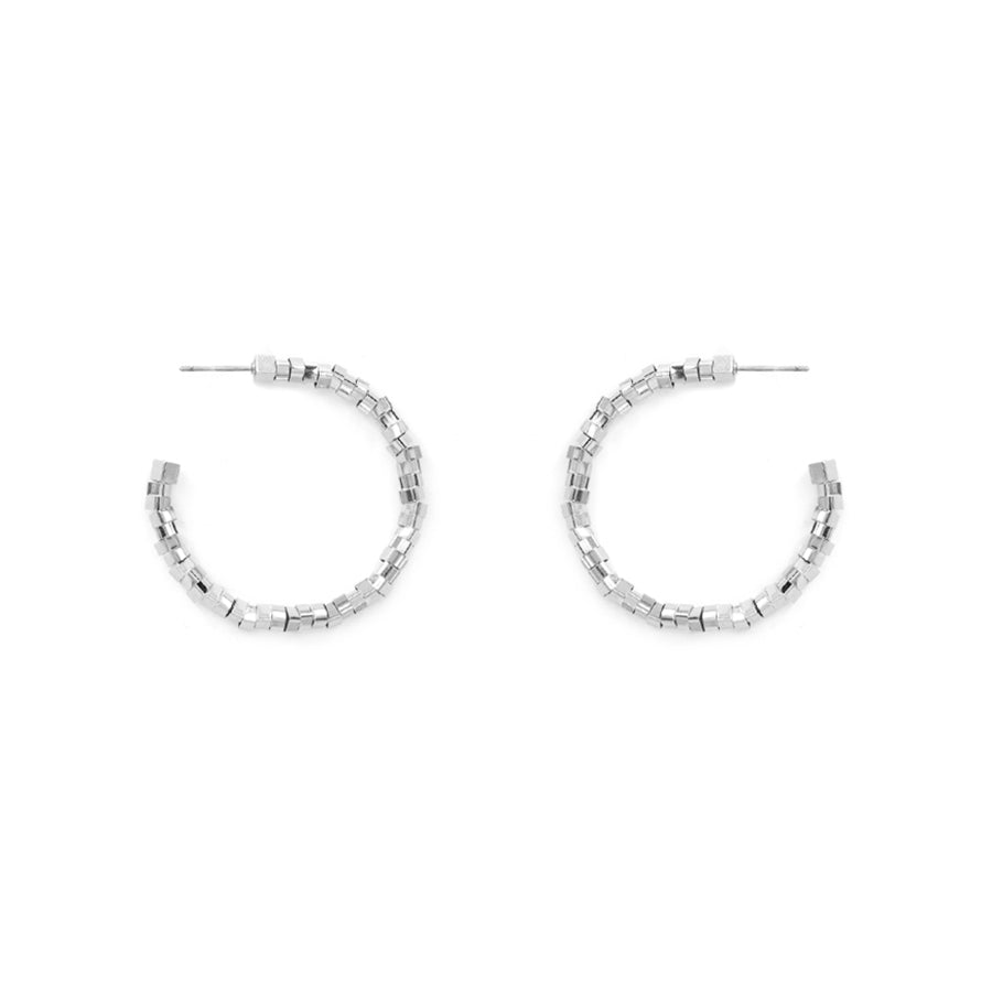 Iris - Rhodium Silver-Earrings-Wholesale-Boutique-Clothing-Accessories