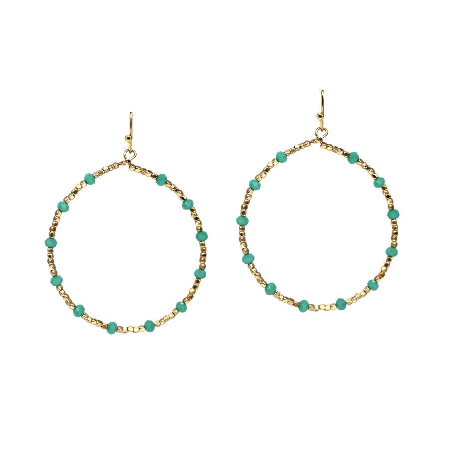 Jacie - Green-Earrings-Wholesale-Boutique-Clothing-Accessories