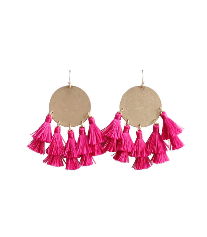 Katelyn - Fuchsia-Earrings-Wholesale-Boutique-Clothing-Accessories