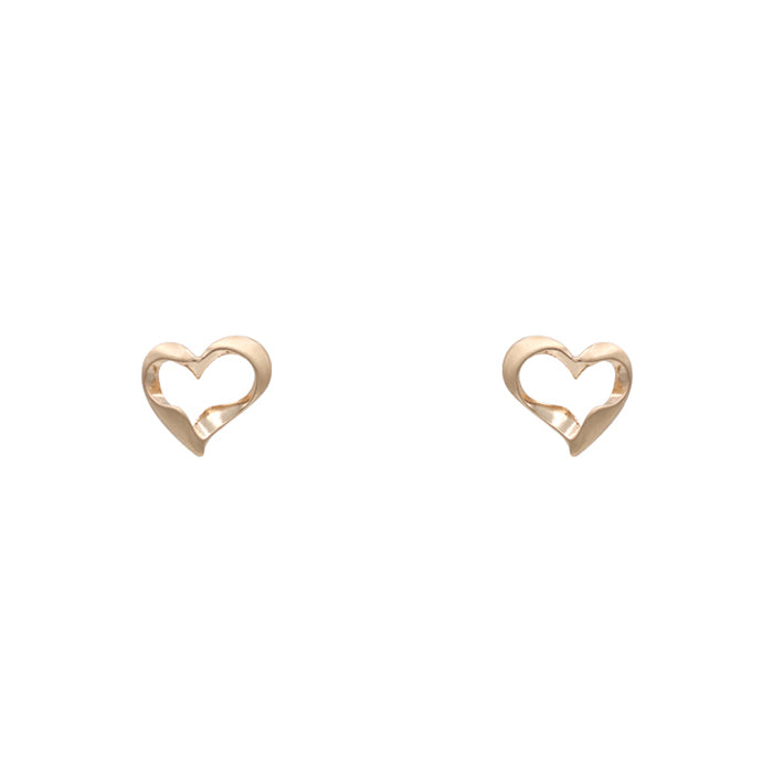 Kaylani Heart Earrings - Worn Gold-Earrings-Wholesale-Boutique-Clothing-Accessories